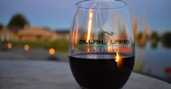 Complimentary Wine Glass at Zillah Lakes Inn